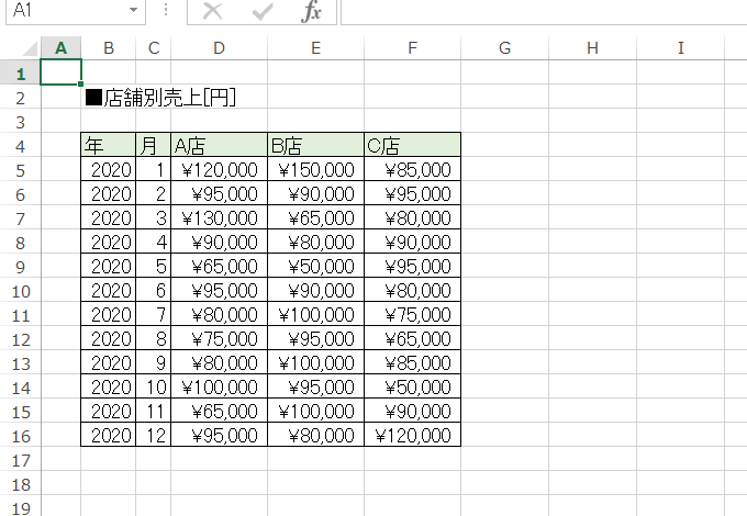 <Excelのシートの記載>